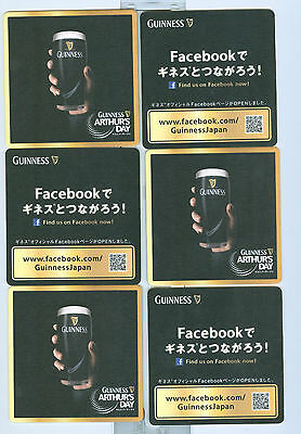 6 Guinness Sottobicchieri identico Giapponese  Export Japon N°03