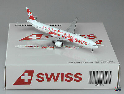 Swiss International Air Lines B777-300ER Reg:HB-JNA JC Wings Scale 1:400  XX4683