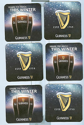 6 Guinness Sottobicchieri identico Giapponese  Export Japon N°08