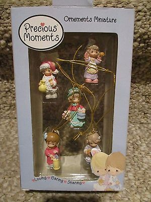 PRECIOUS MOMENTS: Miniature Ornaments LOVING-CARING-SHARING COLLECTION 2002