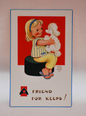 MABEL LUCIE ATTWELL  . A FRIEND FOR KEEPS     attwell POSTCARD vintage old