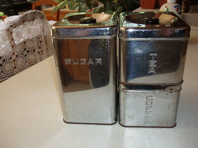 Retro Vintage Chrome Canister set by Lincoln Beautyware 3 Canisters