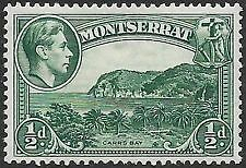 Montserrat 1938 1/2d blue-green perf 13 mounted mint SG 101.