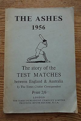Vintage 1956 The Ashes (England Keep The Ashes) Times Publication