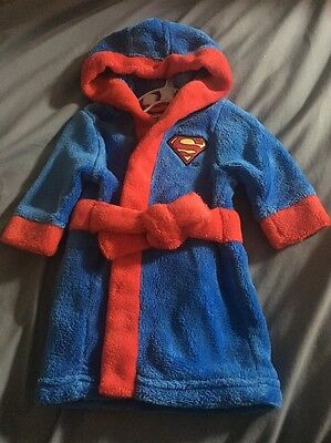 Superman Superbaby Dressing Gown Newborn Up To One Month First Size Boys