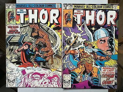 Two bronze Age Thor Comics# in FN Condition