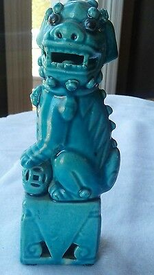 "Chinese 6"" male turquoise Foo dog"