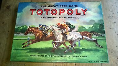 Vintage Totopoly Horse Racing Board Game By Waddingtons - Complete