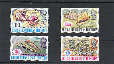 Sg 58/61 British Indian Ocean Territory N/h/mint Set