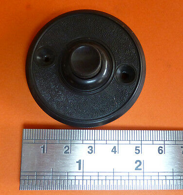 VINTAGE BAKELITE DOOR BELL PUSH BUTTON.  1940s /  1950's.