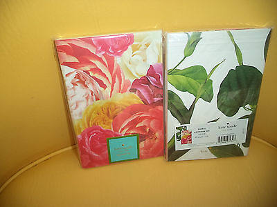 New Kate Spade 80  Lined Pages Notebook Set Of Two Floral Designs