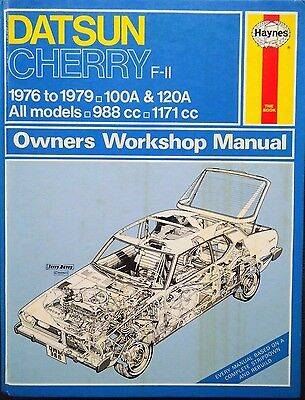 Haynes Workshop Manual Datsun Cherry (F-11) from 1976 to 1979.