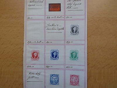 "UNITED STATES OF AMERICA  ETATS UNIS USA Local stamps ""Jenkins, Kers city"""