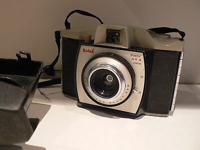 Vintage Kodak Brownie 44A Camera & Case - Awful Condition