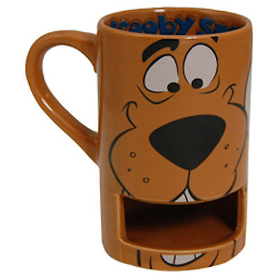 Scooby Doo Face Coffee Mug and biscuit holder NEW  26933