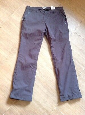 Craghoppers Ladies Walking Trousers Size 12 Fully Lined Winter Vgc