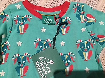 Organic cotton BNWT PJs 1-2yr Little Green Radicals