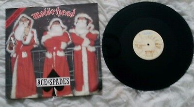 Motorhead Ace Of Spades 12 Inch Single In A Limited Edition Christmas P/s Lemmy