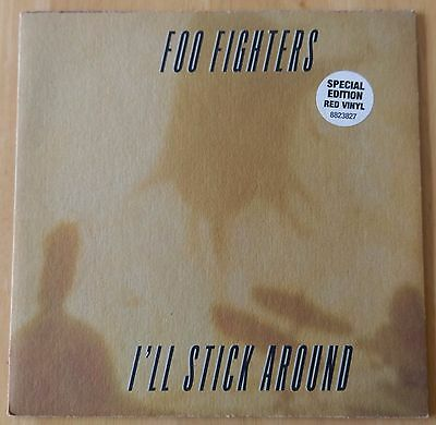 Foo Fighters I'll Stick Around 1995 UK Special Edition Red Vinyl 7'' Dave Grohl