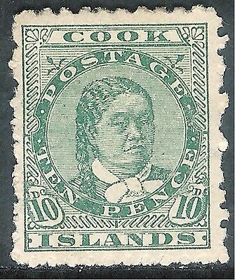 Cook Islands 1902 green 10d perf 11 mint SG35