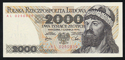Pologne billet 2000 Zlotych 1.6.1979 NEUF - UNC