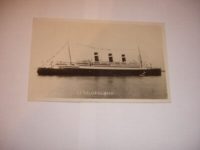 WHITE STAR LINE.   RMS. BELGENLAND. ex  BELGIC.  RP  real photographic