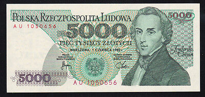 Pologne billet 5000 Zlotych 1.6.1982 NEUF - UNC