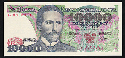 Pologne billet 10000 Zlotych 1.2.1987 NEUF - UNC