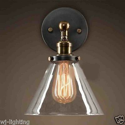 Modern LED New Clear Glass Ceiling Vintage Retro Chandelier  Wall Light Fitting