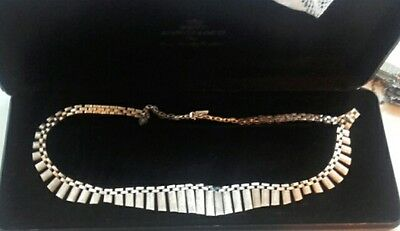 Solid Silver Vintage 1950's Necklace Egyptian style 925 30g