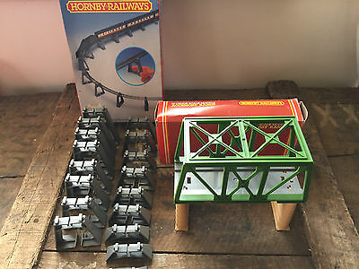 Hornby Oo Elevated Track Support Set R909 Girder Bridge R657 Boxed Complete Mint