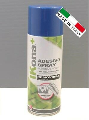 "ADESIVO SPRAY REMOVIBILE COLLA A CONTATTO 400ml "" CWR ""  100% MADE IN ITALY"