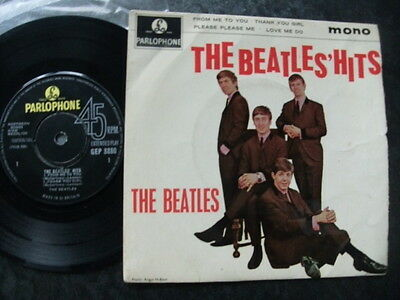 "The Beatles E.p.""hits"".1963 Parlophone+Picture Cover.1St Pressing No""sold In Uk"""