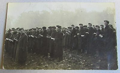 Old Real Photo Military Postcard - Prisoners of War ??