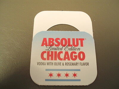 One Absolut Vodka Chicago 750 ml bottle tag. GREAT TAG!!!!