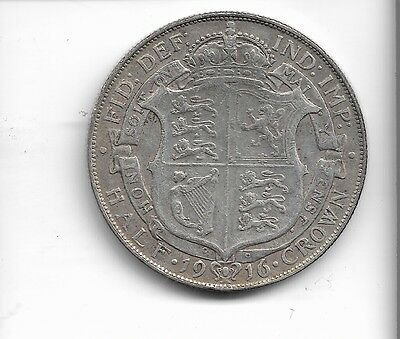 1916 half crown coin .925 silver king george v