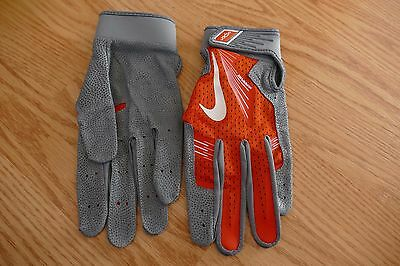 NEW Nike  VAPOR HYPERFUSE Batting Gloves ORANGE Size XL PGB445 893