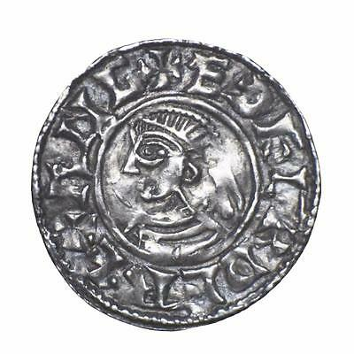 Aethelred II Anglo Saxon short-cross silver penny.
