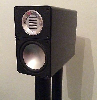 Elac 310i Jet Speakers - Black With Stands In Very Good Condition Ribbon Tweeter