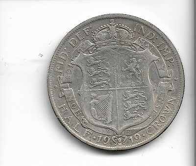 1919 half crown coin .925 silver king george v