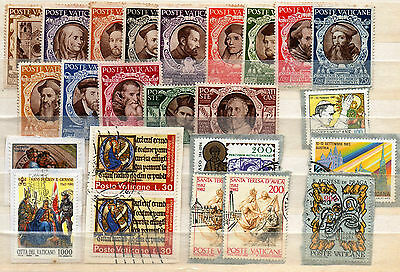 Vatican Selection Of Stamps As Scanned