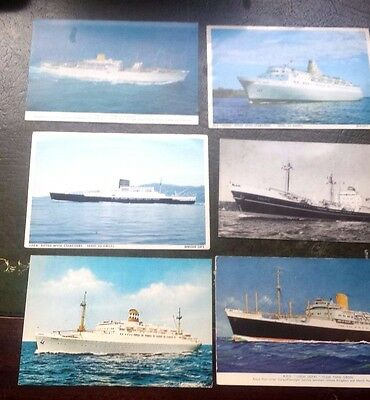 28 Unposted, unused postcards of ships, various shipping lines