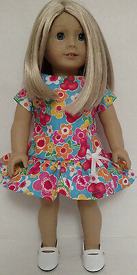 "18 inch Doll Clothes - Dress Handmade to fit 18"" American Girl Dolls d180b"
