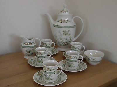 Immaculate Royal Doulton Coffee Set, 'tonkin' Pattern