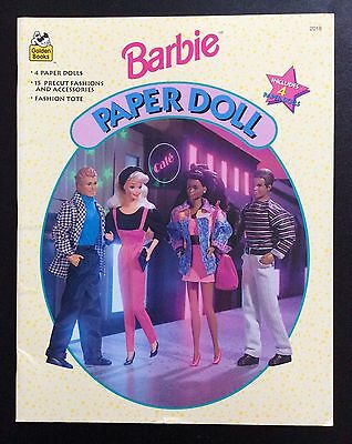 BARBIE & Friends Paper Doll Book, Whitman 1994, Uncut, 4 Pages of Clothes