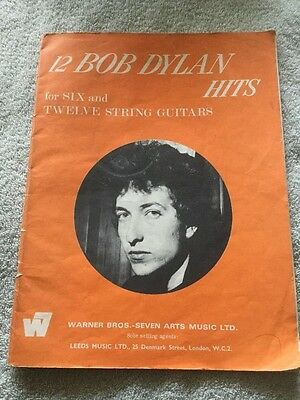 12 BOB DYLAN HITS for SIX and TWELVE STRING GUITARS