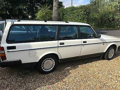 Volvo 240Gl Auto White 85.000 Miles Amazing Condition 2 Owners
