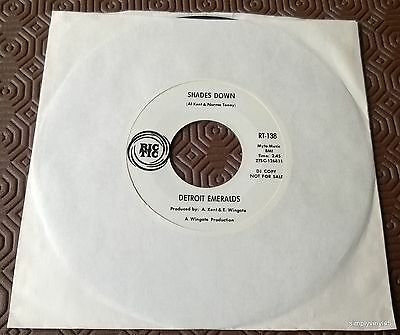 DETROIT EMERALDS SHADES DOWN  USA 1968 RIC TIC PROMO Northern Soul