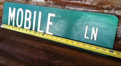 """6"""" x 24"""" Authentic """"MOBILE LN"""" STREET TRAFFIC HIGHWAY ROAD ROUTE INTERSTATE SIGN"""