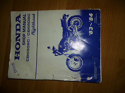 Honda Nighthawk CB650SC Workshop Manual